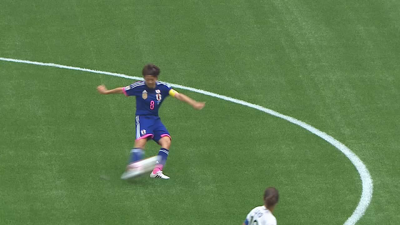 Goooal!!!川澄 奈穂美(JPN)が大儀見 優季(JPN)にパスを繋ぎ、最後は左足でシュート!日本、1点返す!